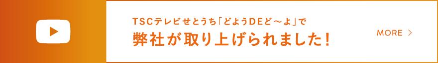 TSCテレビせとうち「どようDEど~よ」で弊社が取り上げられました!